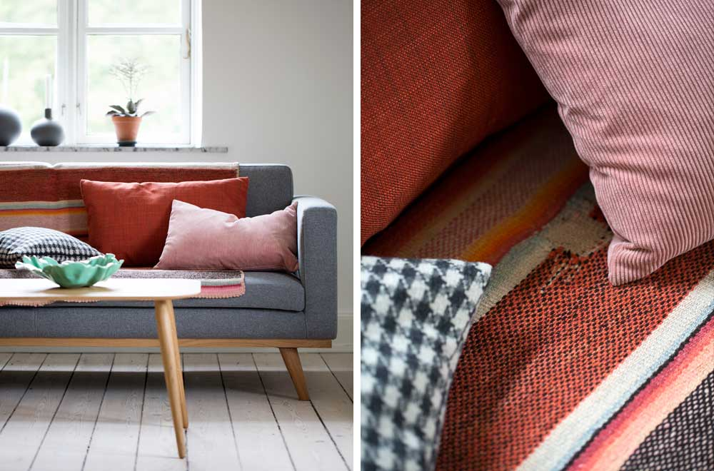 Sofa-Farver, styling